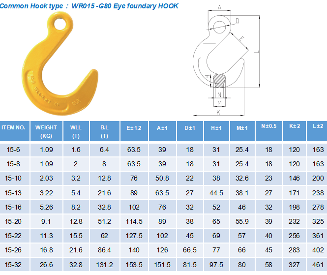 3&4 Legs Lifting Chain Sling - Eye Foundry Hook - G80